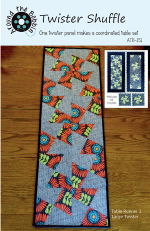Twister Shuffle table runner pattern